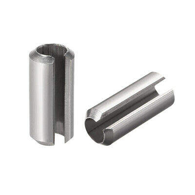 M8 x 16mm 304 Stainless Steel Split Spring Roll Dowel Pins Plain Finish 5Pcs