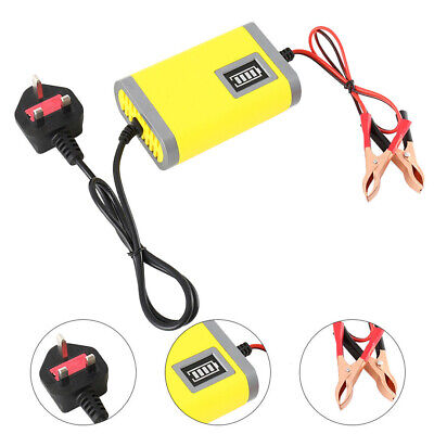 12V 2A Smart Automatic Battery Charger for Car Motorcycle LED Maintainer Trickle