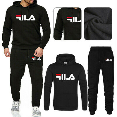 Mens Full Tracksuit Set Hoodie Bottoms Pants Sport Suit Sweater Jogging Gym UK