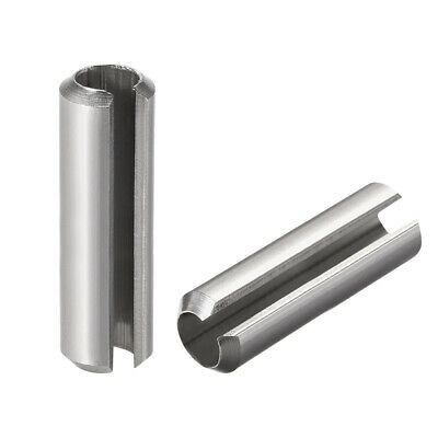 M8 x 55mm 304 Stainless Steel Split Spring Roll Dowel Pins Plain Finish 5Pcs
