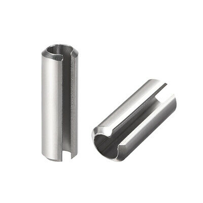 M6 x 25mm 304 Stainless Steel Split Spring Roll Dowel Pins Plain Finish 20Pcs