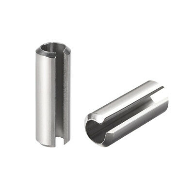M6 x 16mm 304 Stainless Steel Split Spring Roll Dowel Pins Plain Finish 20Pcs