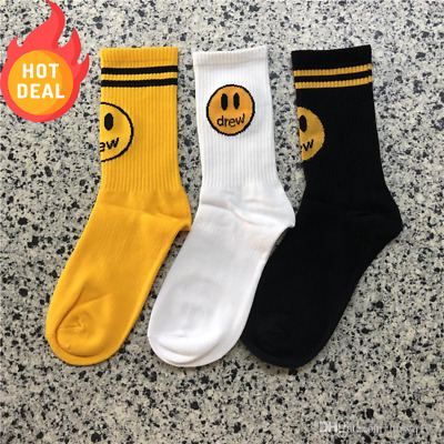 Socks Drew House Cotton Hailey Justin Bieber Smiley Face Clothing New Gift