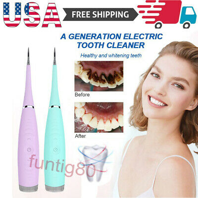 Electric Ultrasonic Sonic Dental Scaler Tooth Stains Tartar Calculus Remover USB