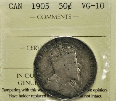 1905 Canada 50 cents ICCS VG-10