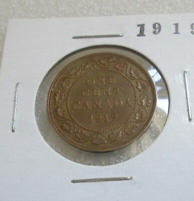 LARGE CANADA PENNY! Mintage 1919 : 11 279 634 Specifications Alloy: 95.5% copper
