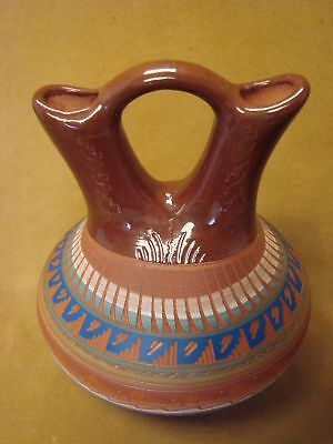 Native American Indian Hand Etched Wedding Vase by Mirelle Gilmore! PT4354