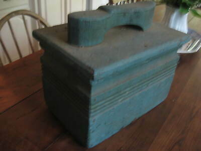 Best Antique Primitive Shoemakers Box Best Old Blue Paint Excellent Form Aafa Nr