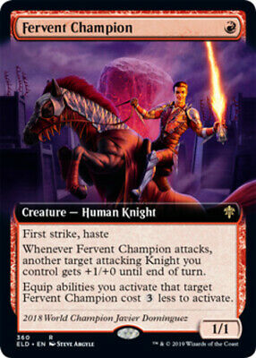 Fervent Champion - Foil - Extended Art x1 Magic the Gathering 1x Throne of Eldra