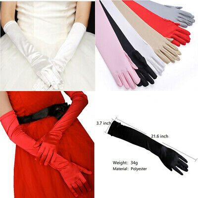 Women Long Gloves Sun Protection Driving Opera Evening Party Prom Ladies Gloves