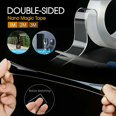 Nano Magic Tape Gel Grip Traceless Removable Double-Sided Adhesive Washable