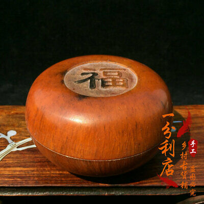 Exquisite Chinese antique Tibet  Ox horn  Ink box ww54
