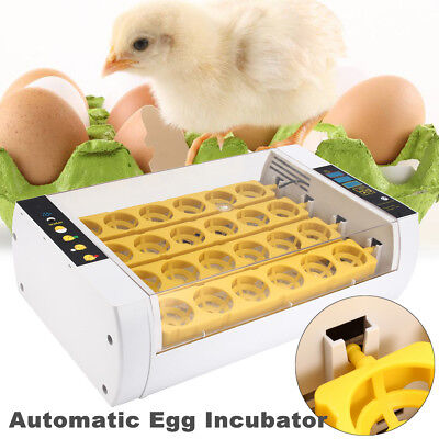 24 Egg Digital Incubator Automatic Chicken Poultry Hatcher Temperature Control