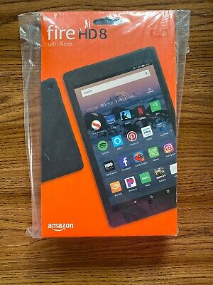 "NEW Amazon Fire HD 8 Tablet With Alexa 8"" Display 16GB (8th Gen) - BLACK"