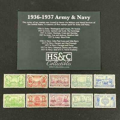 HS&C: #785-794 1936-1937 Army & Navy Issue Stamps