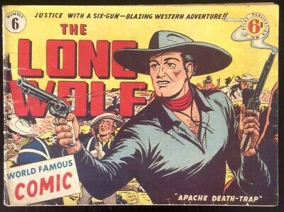 THE LONE WOLF # 6 EXCELLENT 1950's GOLDEN AGE AUSTRALIAN DRAWN  COMIC