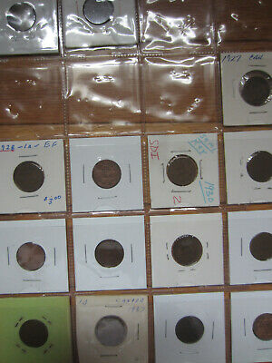Set of Canada Small Cents Coins (1920-2012) NICE GRADES UNCS (SC37)