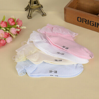 1Pair Cotton Lace Mesh Breathable Casual Baby Girls Kids Ankle Princess Socks