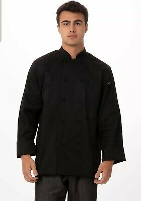 Chef Works Men's Calgary Cool Vent Chef Coat Black Size Small