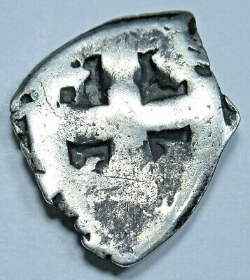 1700s Spanish Silver 1/2 Reales Real Old Antique Pirate Colony Treasure Cob Coin
