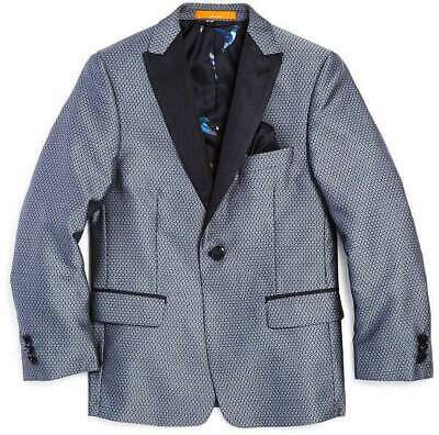 Tallia Boys' Medallion Sport Coat - Big Kid - Color Silver - Size 16 - Brand NEW