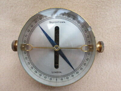Antique Lacquered Brass Silvertown London Telegraph Galvanometer