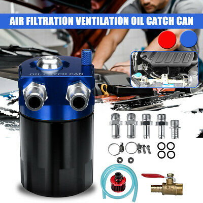 Oil Catch Can Baffled Breather Benzin Diesel Turbo Tank Reservoir Filter 300ML J