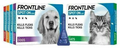 FRONTLINE SPOT ON Flea Tick Lice Treatment S,M,L,XL Dog Cat AVM-GSL 4 6 Pipette