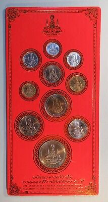 King Bhumibol Adulyadej 50th Jubilee 1996 Rama 9 IX Thailand 10 Coin Set Thai
