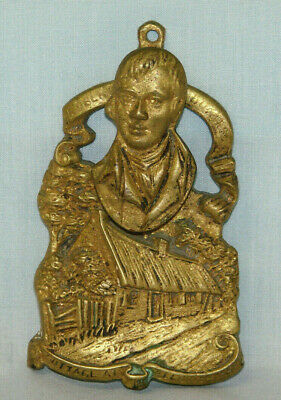 Cast Brass ROBERT BURNS DOOR KNOCKER - Vintage / Antique - Uncommon Style