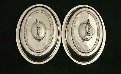 Pair Silver Plate English Entree E P On Copper  Sheffield Reproduction