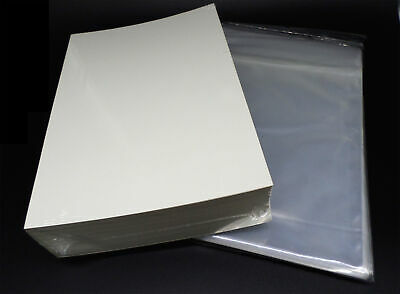 100 Docsmagic.de Silver Size Resealable Comic Bags + Backing Boards - Combo Pack