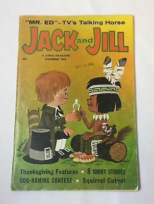 November 1962 JACK And JILL ~ Mr Ed, Fluff And Puff paper dolls, more
