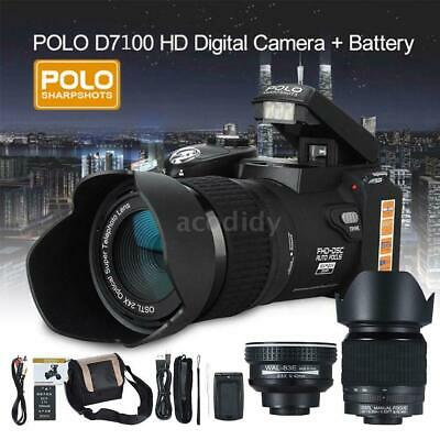 Polo Sharpshots 33MP 1080P FHD Digital Camera with 3 Lens Bulit-in Flashlight