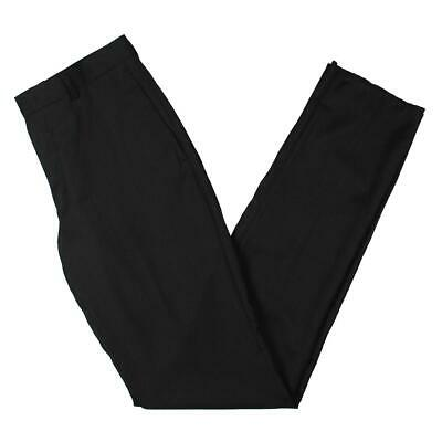 DKNY Mens Black Wool Pindot Suit Separate Dress Pants Trousers BHFO 2252