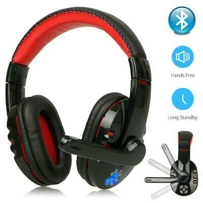 Wireless Bluetooth Gaming Headset Headphones Stereo w/Mic for PC Xbox One PS4 UK