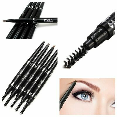 Lasting Makeup Beauty Eyebrow Pencil Double Head with Brush Automatic Brow Tint