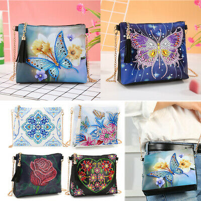 Butterfly DIY 5D Diamond Painting Wallet Special Shaped Clutch Bags Coin Purse `