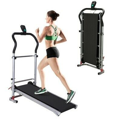 Treadmill Machine Folding Incline Cardio Fitness Led Display Home Workout Manual
