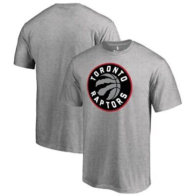 Toronto Raptors Fanatics Branded Primary Logo T-Shirt - Heather Gray