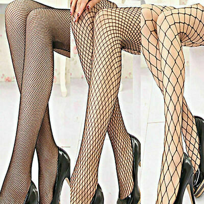 New Womens Tights Fishnet/Whalenet Ladies Tights Black Dance Plus Size 6-16