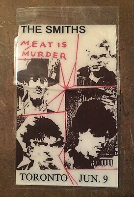 The Smiths RARE! Meat is Murder Tour pass TORONTO JUNE 9th 1985!!!