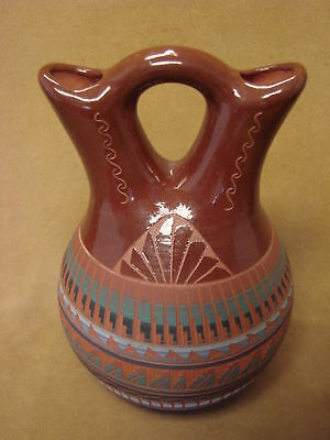 Native American Indian Hand Etched Wedding Vase by Mirelle Gilmore! PT4350