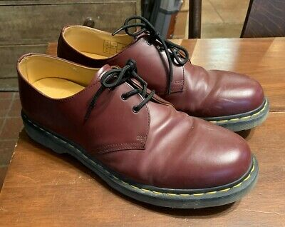 Dr. Martens 1461 Oxblood Red Smooth Leather Shoes Oxfords Men's Size 12
