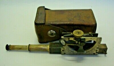 Early 20th century leather cased inclinometer made by COOKE,TROUGHTON & SIMMS