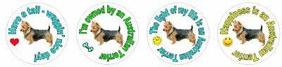 *252 fun Australian Terrier stickers seal LASER waterproof 4 styles 1""