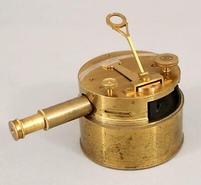 RARE Antique 19thC Elliot Brothers London, Brass Pocket Box Sextant, Complete