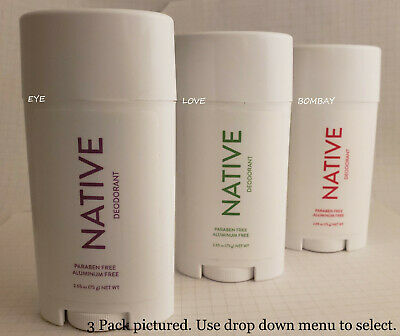 Native Deodorant SUMMER Aluminum Free Long Lasting STRAWBERRY, LIME, HIBISCUS