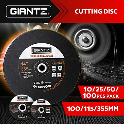"Giantz 4"" 4.5"" 14"" Cutting Disc Metal Cut Off Wheel Angle Grinder Thin Steel"