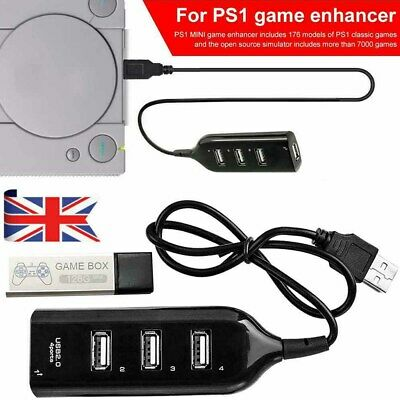 128G PS1 MINI True Blue Mini Crackhead Pack For Playstation Built-in 7000 Games.